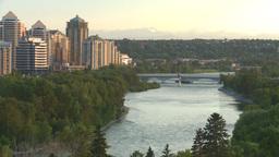 HD2008-6-9-49 Calgary evening skyline Stock Video Footage