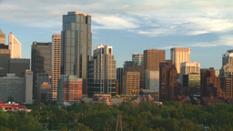 HD2008-6-9-53 Calgary evening skyline Stock Video Footage
