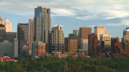 HD2008-6-9-53 Calgary evening skyline Footage
