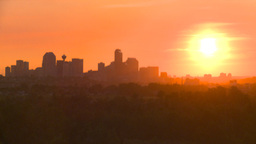 HD2008-6-9-55 Calgary evening skyline sunset Stock Video Footage