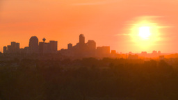 HD2008-6-9-55 Calgary evening skyline sunset Footage