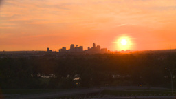 HD2008-6-9-57 Calgary evening skyline sunset Stock Video Footage