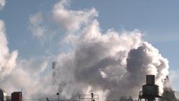 HD2008-3-1-24 steam exhaust industrial bdg IKO Stock Video Footage