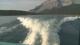 HD2008-10-1-9 lake boat ride boat wake Footage