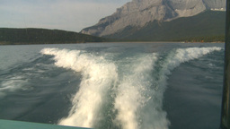 HD2008-10-1-9 lake boat ride boat wake Stock Video Footage