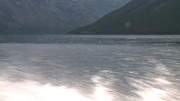 HD2008-10-1-19 lake boat ride boat wake Stock Video Footage