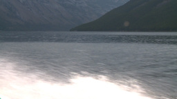 HD2008-10-1-19 lake boat ride boat wake Stock Video Footage