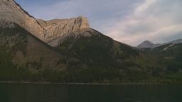 HD2008-10-1-23 lake boat ride autumn colors mtn Stock Video Footage