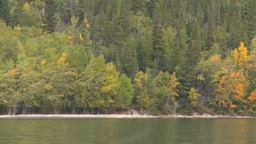 HD2008-10-1-25 lake boat ride autumn colors Stock Video Footage