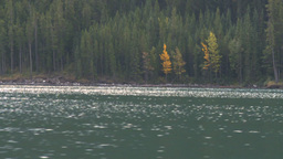 HD2008-10-1-27 lake boat ride autumn colors Stock Video Footage
