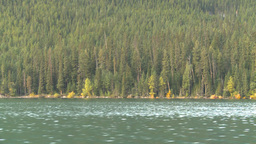 HD2008-10-1-35 lake boat ride autumn colors Stock Video Footage