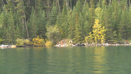 HD2008-10-1-41 lake boat ride autumn colors Stock Video Footage