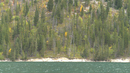 HD2008-10-1-47 lake boat ride autumn colors Stock Video Footage
