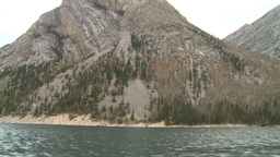 HD2008-10-1-53 lake boat ride autumn colors Stock Video Footage