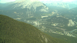 HD2008-10-2-16 top, town of Banff Cascade Z Stock Video Footage
