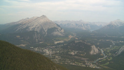 HD2008-10-2-18 top, town of Banff Cascade Stock Video Footage