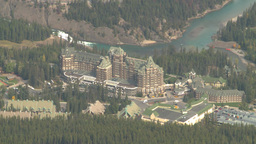 HD2008-10-2-20 top, Banff springs hotel Stock Video Footage