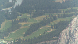 HD2008-10-2-24 top, banff golf course Stock Video Footage