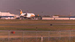 HD2008-10-2-46 jazzRJ jet landing thru frame Stock Video Footage