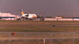 HD2008-10-2-46 jazzRJ jet landing thru frame Stock Video Footage
