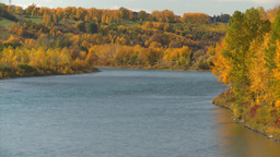 HD2008-10-2-48 Bow River autumn trees Stock Video Footage