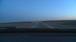 HD2008-10-3-1 drive ighway thru windshield Stock Video Footage