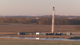 HD2008-10-3-11 oil rig mtns Z Stock Video Footage