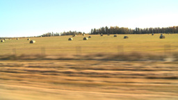 HD2008-10-3-15 drive late fall hay fields Stock Video Footage