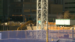 HD2008-10-4-8 construction site backhoe Stock Video Footage