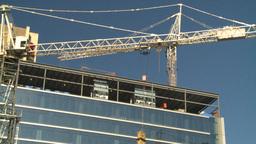 HD2008-10-4-12 construction crane Stock Video Footage