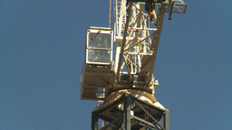 HD2008-10-4-14 construction crane Stock Video Footage
