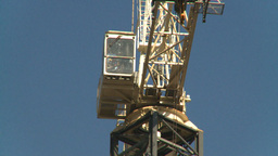HD2008-10-4-14 construction crane Stock Video Footage