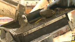 HD2008-10-4-20 construction cement pouring Stock Video Footage