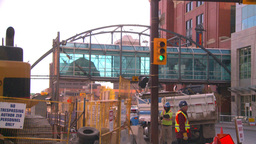 HD2008-10-4-26 construction site backhoe dumptruck Stock Video Footage