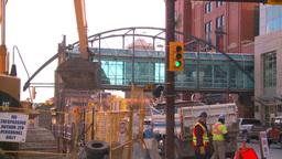 HD2008-10-4-26 construction site backhoe dumptruck Footage