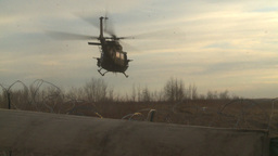 HD2008-10-8-3 Heli lift off Stock Video Footage