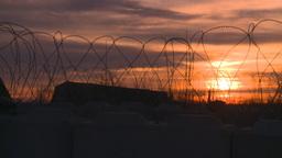 military razor wire Footage