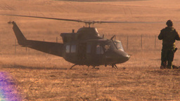 HD2008-10-11-1 heli landing Stock Video Footage