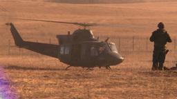 HD2008-10-11-1 heli landing Stock Video Footage