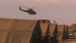 HD2008-10-11-7 heli flyby Stock Video Footage
