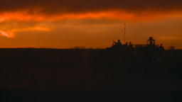 HD2008-10-11-29 silou LAV sunset follow Stock Video Footage
