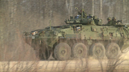 HD2008-10-16-5 LAV3 drive by Stock Video Footage