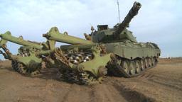 HD2008-10-16-11 leo tank and mine sweep Stock Video Footage