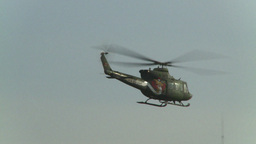 HD2008-10-16-15 helo fly by Stock Video Footage
