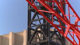 HD2008-10-17-18 constr site crane cgy Stock Video Footage