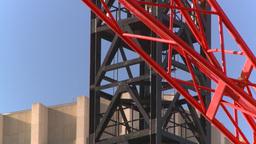 HD2008-10-17-18 constr site crane cgy Footage