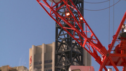 HD2008-10-17-18 constr site crane cgy Stock Video Footage
