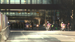 HD2008-10-17-20 military parade polic ebikes Stock Video Footage