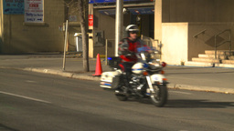 HD2008-10-17-22 police bikes Stock Video Footage