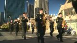 HD2008-10-17-24 Military Parade stock footage
